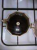 Smakelijke koffie! Stock Foto