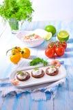 Smakelijke krabsalade Stock Foto's