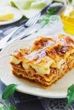 Smakelijke lasagna's Stock Afbeelding