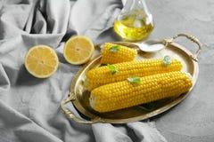 Smakelijke maïskolven Royalty-vrije Stock Afbeeldingen