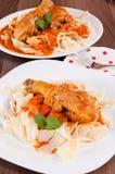 Smakelijke maaltijd Stock Foto's