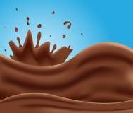 Smakelijke melkchocola, melkchocolareeks Royalty-vrije Stock Afbeeldingen