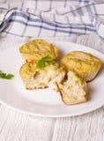 Smakelijke muffins met courgette en kaas Royalty-vrije Stock Foto