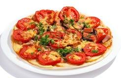 Smakelijke pizza Stock Afbeeldingen