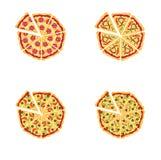 Smakelijke pizza Stock Foto's