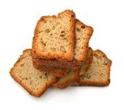 Smakelijke plakken van het brood van de banaannoot royalty-vrije stock fotografie