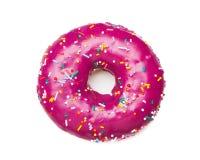 Smakelijke purpere doughnut royalty-vrije stock foto's