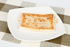 Smakelijke quesadilla met ham Stock Afbeelding