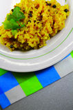 Smakelijke rijst met kruiden Stock Foto