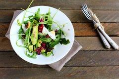 Smakelijke salade met avocado Royalty-vrije Stock Afbeelding