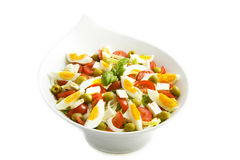 Smakelijke salat met ei Stock Afbeelding