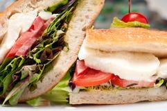 Smakelijke sandwich Stock Afbeeldingen