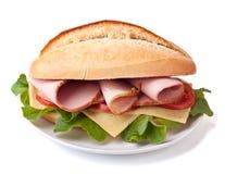 Smakelijke Sandwich met Ham stock afbeeldingen