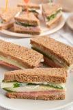 Smakelijke Sandwiches op Bruin Brood royalty-vrije stock foto's