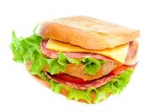 Smakelijke sappige sandwich Stock Afbeelding