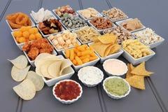 Smakelijke Snack en Onderdompelingsselectie stock foto