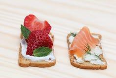 Smakelijke snacks Stock Afbeeldingen