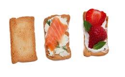 Smakelijke snacks Stock Foto's