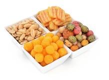 Smakelijke snacks stock fotografie