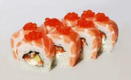 Smakelijke sushi vastgesteld Californië Stock Afbeelding