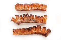 Smakelijke varken of varkensvleespanceta of bacon Royalty-vrije Stock Foto's