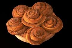 Smakelijke verse broodjes met ci Stock Foto