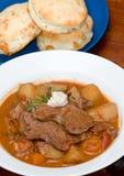 Smakelijke vlees en aardappelhutspot Royalty-vrije Stock Foto