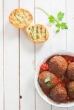 Smakelijke vleesballetjes Stock Afbeelding
