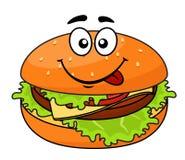 Smakelijke vlezige cheeseburger  Royalty-vrije Stock Afbeeldingen