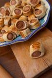 Smakelijke vlokkige gebakjes Royalty-vrije Stock Afbeelding