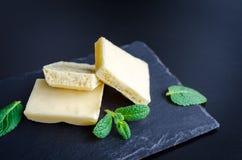 Smakelijke witte poreuze chocolade Royalty-vrije Stock Afbeelding