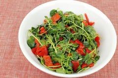 Smakelijke Witte waterkerssalade Stock Foto's