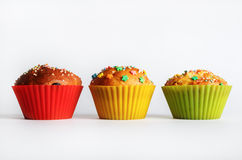 Smakelijke zoete muffins Stock Fotografie