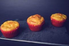 Smakelijke zoute muffins Stock Foto's