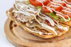 Smaklig BLT-smörgås i en ciabatta Royaltyfria Bilder