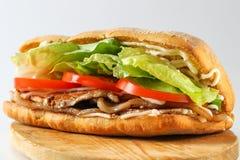 Smaklig BLT-smörgås i en ciabatta Arkivbild