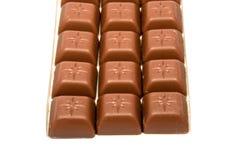 Smaklig choklad i fyrkanter Royaltyfria Foton