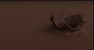 Smaklig chokladfärgstänk 3d framför illustrationen royaltyfri illustrationer