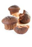 smaklig chokladmuffin Arkivbild