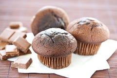 smaklig chokladmuffin Royaltyfria Foton