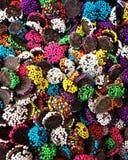 Smaklig colorfullchoklad Arkivfoto
