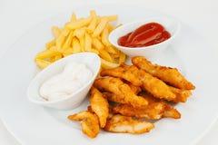 Smaklig fisk & chiper Royaltyfri Foto