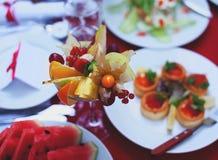 Smaklig fruktefterrätt Royaltyfri Foto