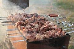 Smaklig grillfest Arkivfoto