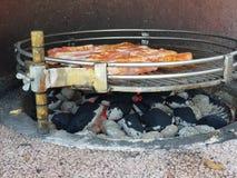 Smaklig grillfest för grisköttkött royaltyfri fotografi