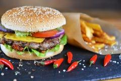 smaklig hamburgare royaltyfria bilder