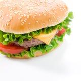smaklig hamburgare Arkivbild