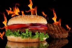 smaklig hamburgare Arkivfoton