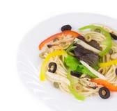 smaklig italiensk pasta Arkivbild