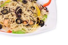 smaklig italiensk pasta Royaltyfri Fotografi